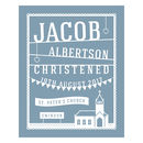 Papercut Style Personalised Christening Gift Print