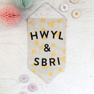'Hwyl A Sbri' Welsh Banner