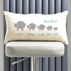 Personalised Flock Of Sheep Family Cushion - what's new