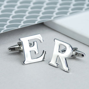 Personalised Alphabet Cufflinks - personalised jewellery