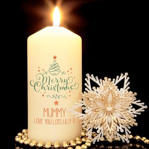 Personalised Merry Christmas Candle - home accessories