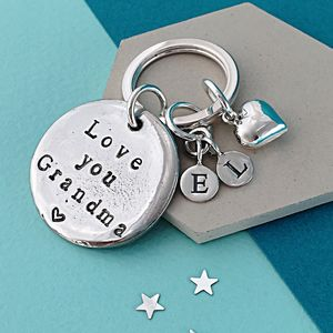 Personalised Love You Grandma Keyring