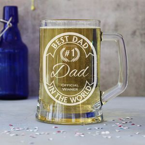 Personalised 'Best Dad' One Pint Beer Tankard - glassware