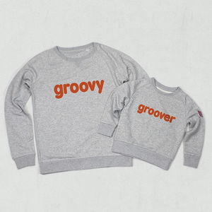 Groovy Groover Sweatshirt Jumper Set - mother & child sets