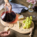 Personalised Wine Carafe And Oak Cheese Board Set