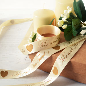 Wedding 25mm Personalised Printed Ribbon - ribbon, twine & tape