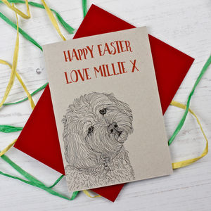 Cockapoo Easter Card