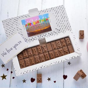 Chocolate 18th Birthday Card - novelty chocolates