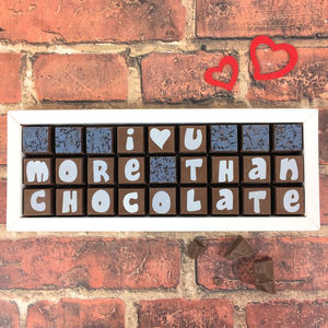 I Love You More Than Chocolate Message - chocolates & confectionery