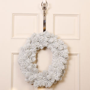 Dreaming Of A White Christmas Snowy Pine Wreath - wreaths