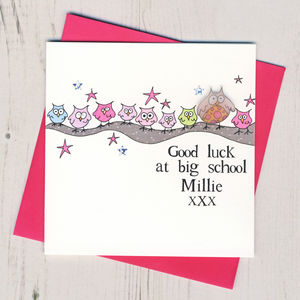 Personalised Good Luck At Big School Card