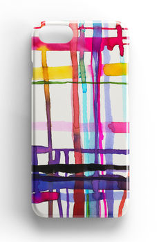 Watercolour Geometric Lines Phone Case iPhone Samsung