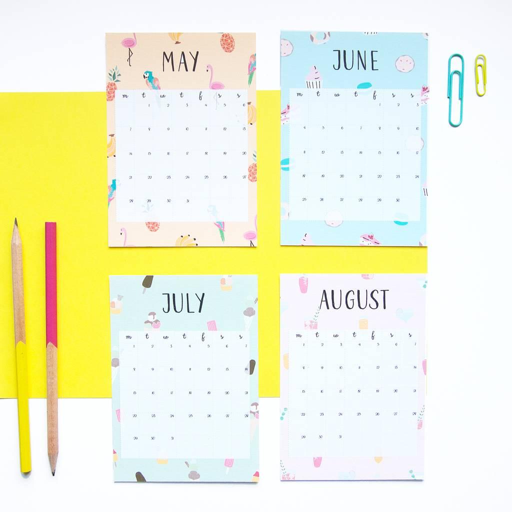 2018 mini calendar