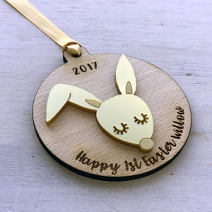 Baby's First Easter Decoration Personalised - first easter