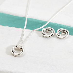 Bond Of Friendship Silver Knot Necklace