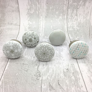 Success Ceramic Door Knobs Cupboard Drawer Door Handles - home accessories