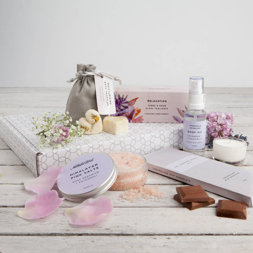 'The Pamper Box' Letterbox Gift Set · '