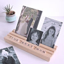 Personalised Scrabble Photo Block - Light Beech