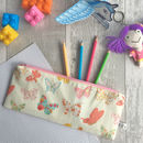 Children's Butterfly Fabric Pencil Case