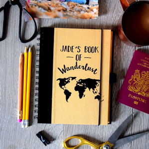 Book Of Wanderlust Travel Journal