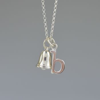 Personalised Gift Sterling Silver Bell Necklace