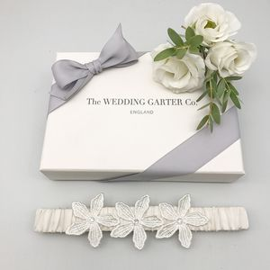Flower Wedding Garter In Various Colours