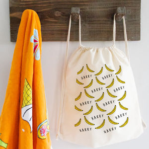 Personalised Banana Pattern Bag - bags
