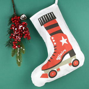 Personalised Roller Skate Stocking - stockings & sacks