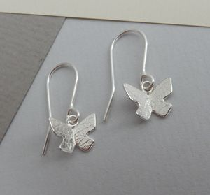 Butterfly Drop Earrings - earrings