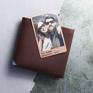 Personalised Solid Copper Wallet Photo Card - gifts for her