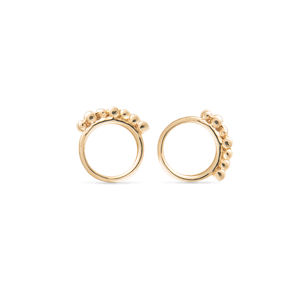 18ct Gold Grain Studs - earrings