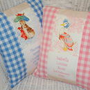 Beatrix Potter© Birth And Christening Cushion