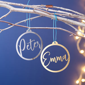 Personalised Metal Name Christmas Bauble - christmas sale