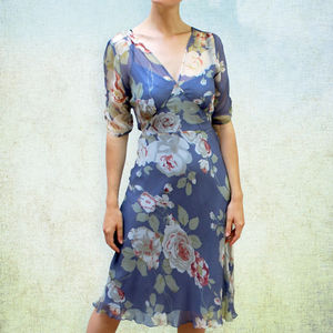 Silk Floral Summer Dress - dresses