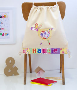 Personalised Bird Nursery Bag - back to school