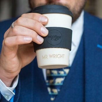 Personalised Etched Eco Friendly Reusable Coffee Cup