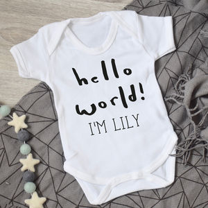 Hello World New Baby Vest - gifts for babies
