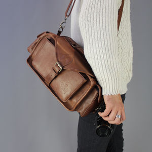 Vintage Style Leather Camera Bag - original gifts for him