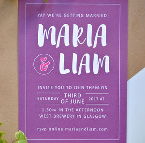 Simple Wedding Invitation - invitations