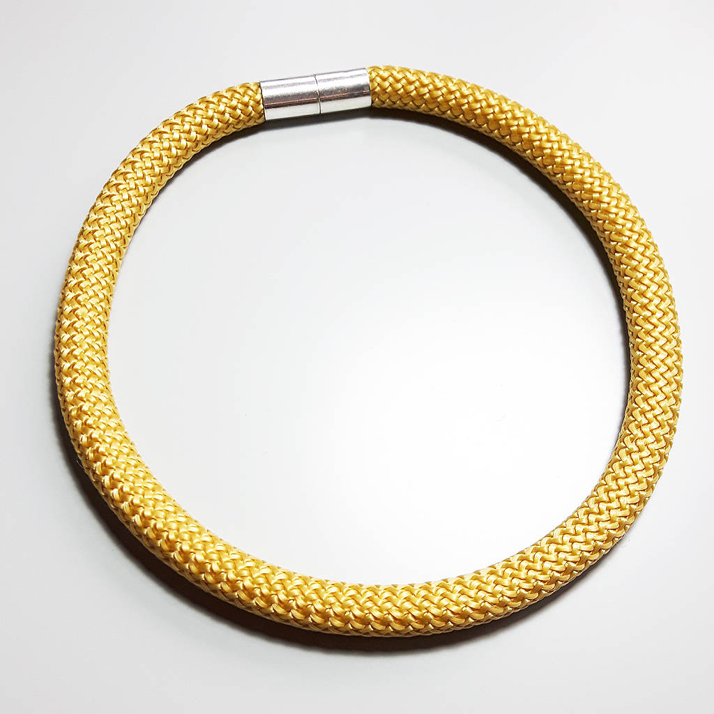 gold rope product boutique statement martha necklace rose