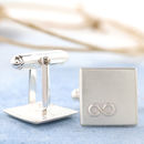 Personalised Wedding Cufflinks. Infinity Symbol