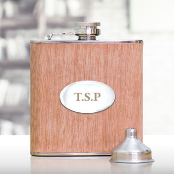 Personalised Wooden Hip Flask