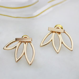 Half Flower Ear Jacket Pair - summer sale