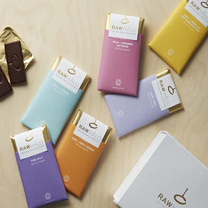 Six Bar Raw Chocolate Gift Box - chocolates & confectionery