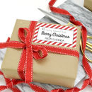 Personalised Stripe Christmas Gift Stickers