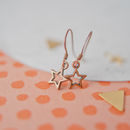 Copper Star Charm Earrings