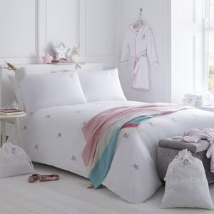 Unicorn Embroidered Bed Linen Collection