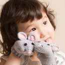 Hand Crochet Mouse Mittens