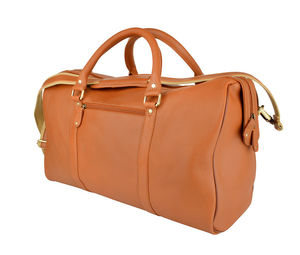 Free Embossing Leather Holdall