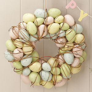 easter egg wreath easter home